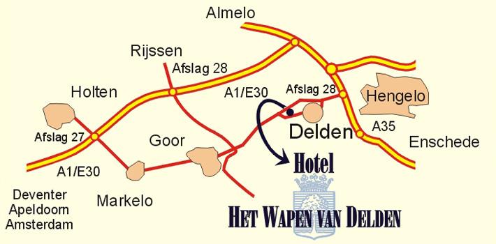 Routebeschrijving naar Best Western hotel Wapen van Delden